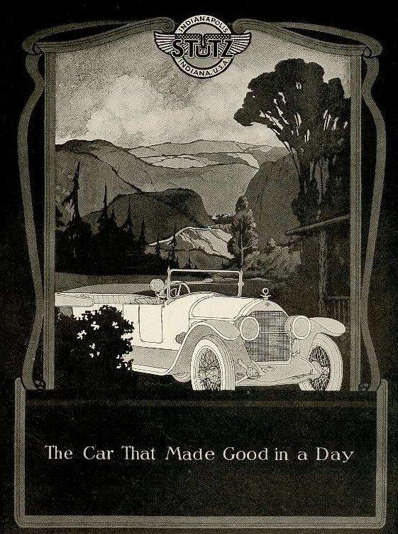 1920 publicite stutz