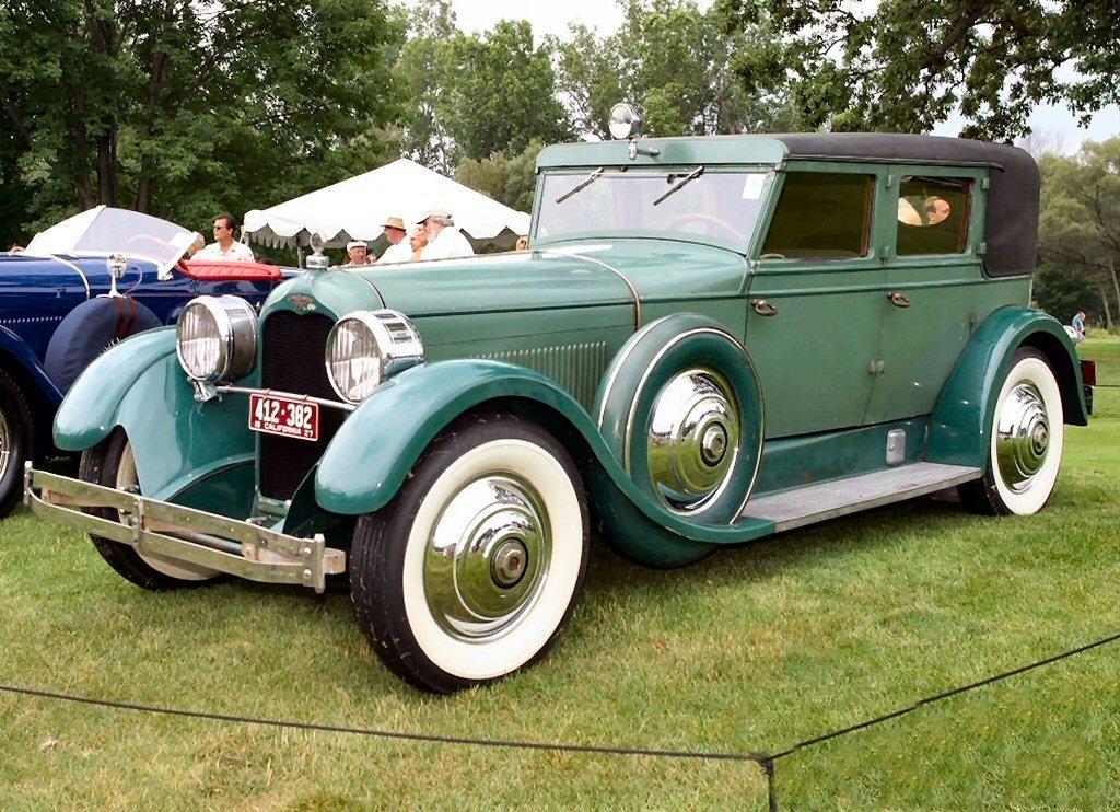 1927 duesenberg model x 4 door sedan green fvl