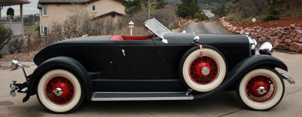 1928 auburn side view framed