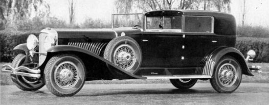 1930 duesenberg town cabriolet copie