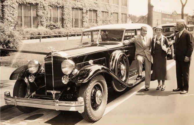 1932 packard 906 dietrich gene sarazen et mrs alvan macauley