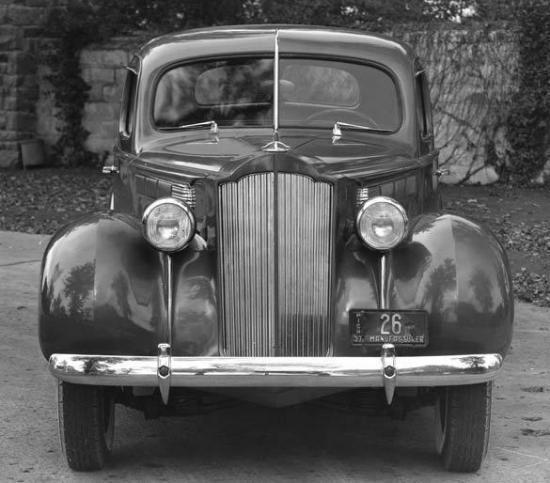 1938 packard 6 sedan 4 door automobile photo poster