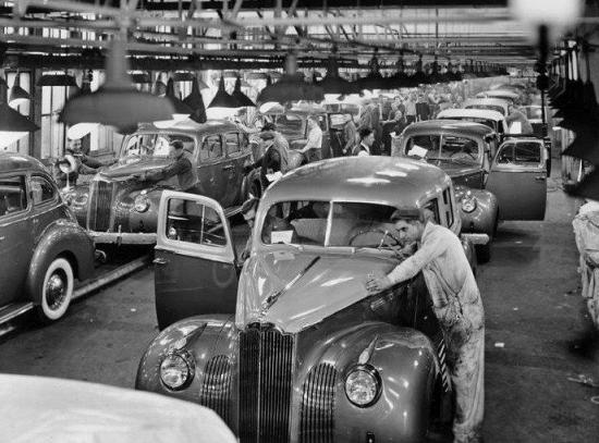 1941 chaine de montage packard
