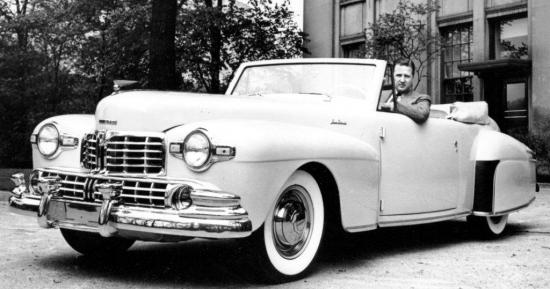 1946 henry ford ii in his continental