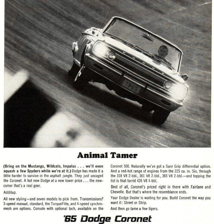 1965 coronet ad