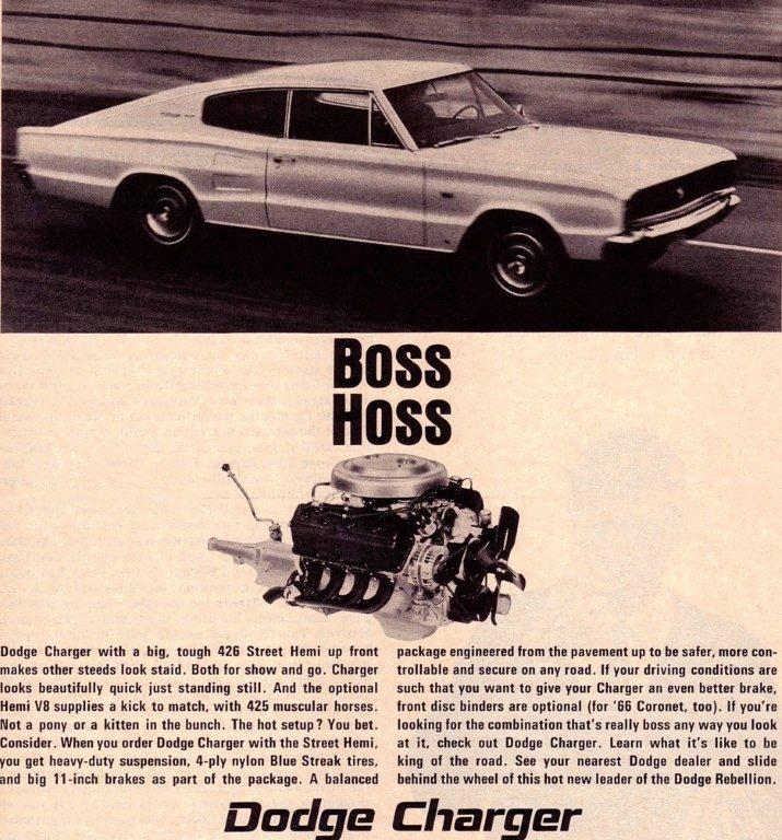 1966 charger ad