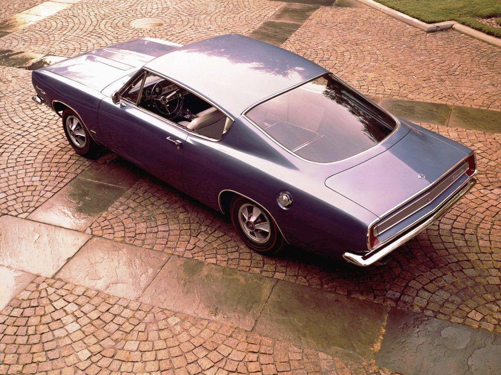 1967 barracuda dessus