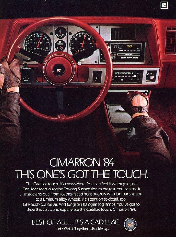 1984 cimaaron publicite