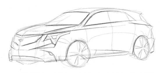 Cadillac xt4 esquisse