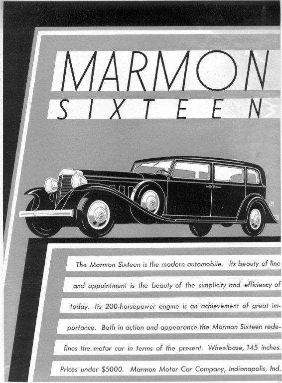 Marmon sixteen ad