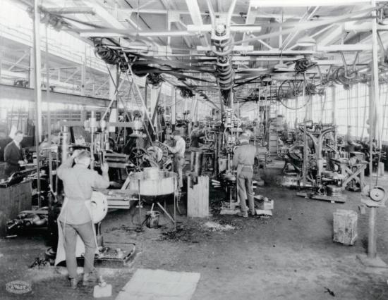 Workers at new duesenberg assembly plant in indianapolis